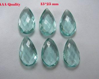 Loose Aquamarine, 15*25mm Briolette Beads