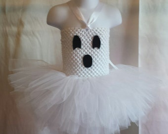 Handmade ghost costume tutu Halloween costume photo prop or birthday outfit