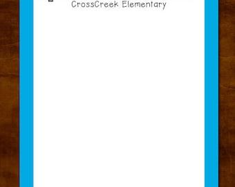 Personalized Teacher Notepad, Teacher Appreciation Gift, Teacher Gift Giving, Pencil,  Notepad for Teacher, Personalized Teacher Gift
