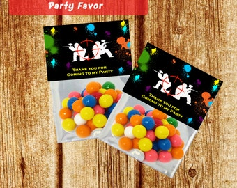 Paintball Party Bag Topper for Party Favor