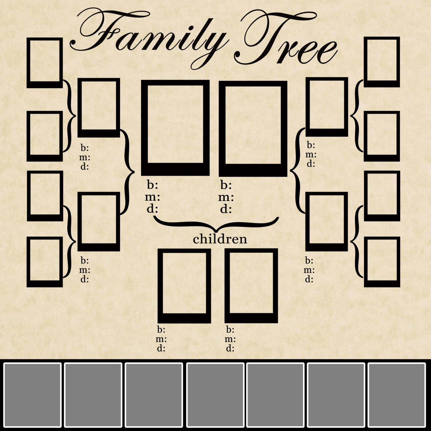 Family tree template family tree template psd for Genealogy templates for family trees