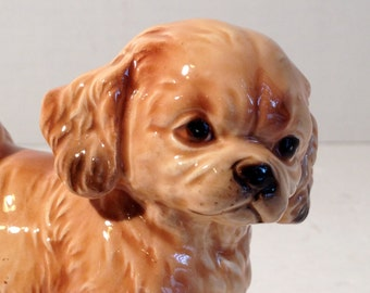 1960's Porcelain Orange Little Spaniel