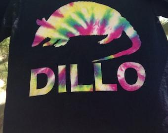 Dillo Armadillo Black Tie Dye TShirt