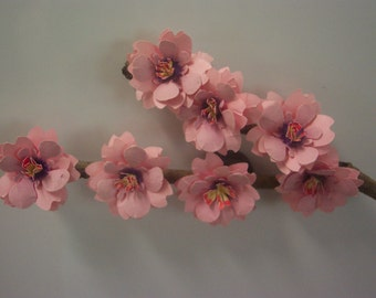 The Very Popular Paper Cherry Blossoms Branch Refigerator  Magnet