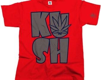Kush Leaf Cannabis Tshirt (Red) From Dibbs
