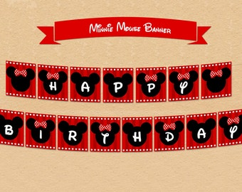 Minnie Mouse Printable Banner