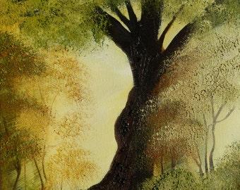 Oak Tree, Oil Painting, Woods, landscape painting