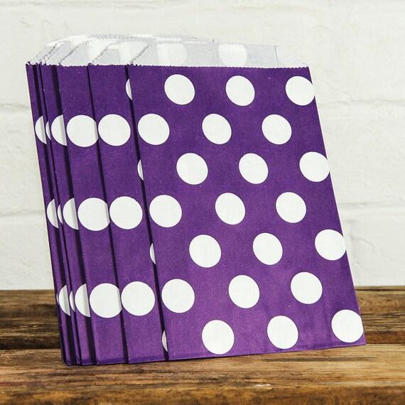 Purple Spots Lolly Bags