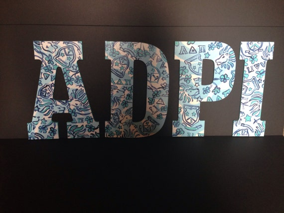 adpi lilly pulitzer hand painted wooden letters in 13 inches