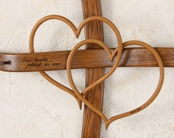 Large Wall Cross with double hearts, Wall crosses, Cross