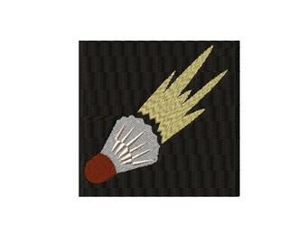 Badminton Flying Birdie on Solid Background Machine Embroidery Design
