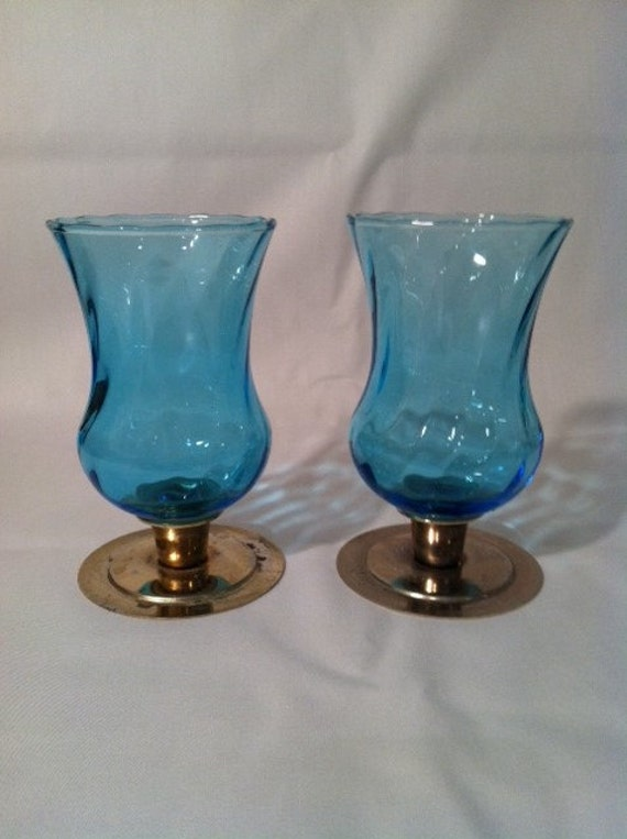 Home Interior Blue Glass Votive Cup