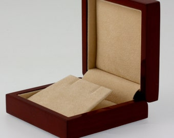 D413A Solid Wood Earring Box Highest Quality Glossy Piano Finish