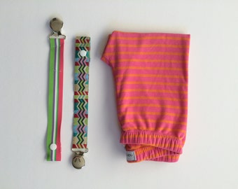 Pink & Orange Stripe Legging Newborn - 4T