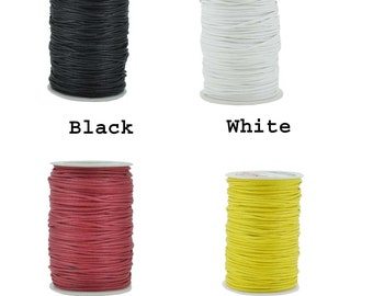 Mandala Crafts® Waxed Cord, Beading Cord, 4 Ply, 2mm, 100 Meters, 109 Yards, Different Color Selections