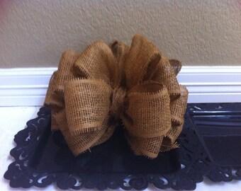 Large burlap bow