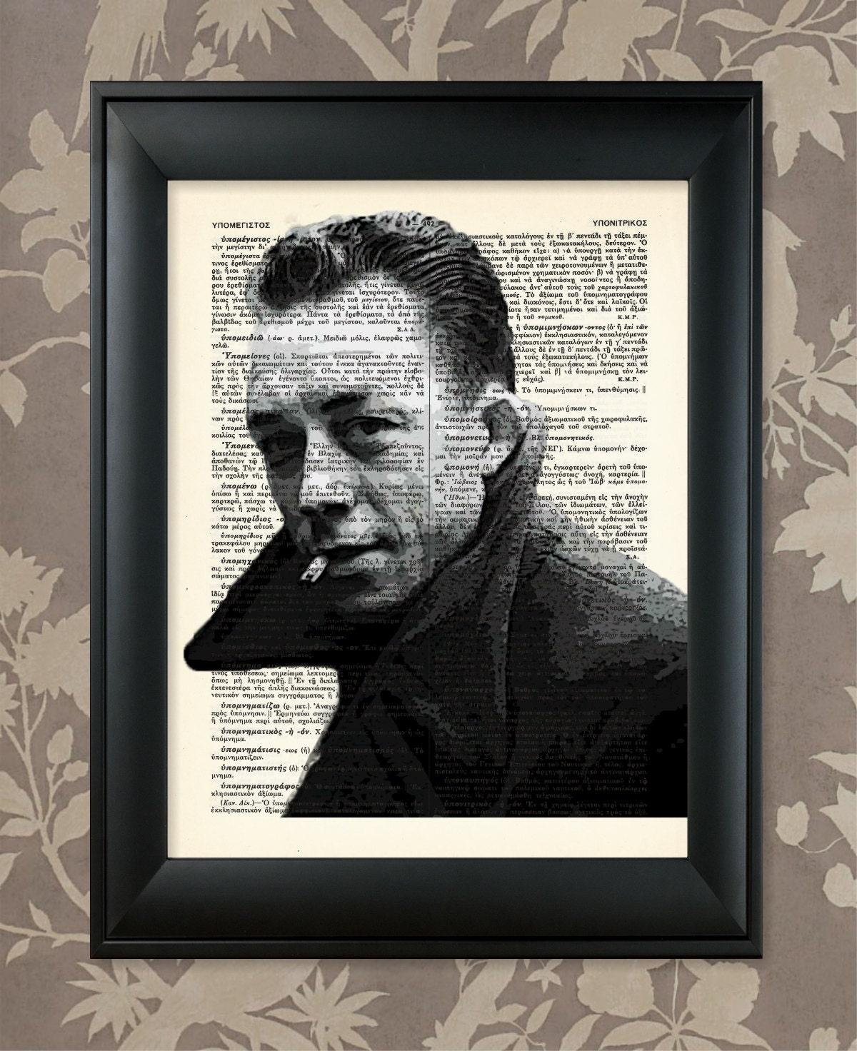 Albert Camus / Albert Camus print Albert Camus poster Albert