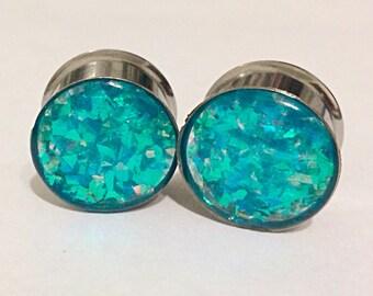 5/8 stainless steel glitter plugs
