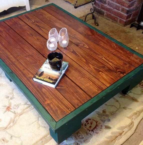 Rustic Wood Pallet Coffee Table: Items Similar To Rustic Pallet Coffee Table
