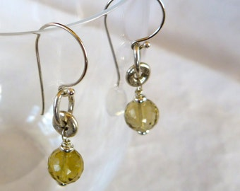 Sparkle in these Citrine Earrings on Sterling Silver