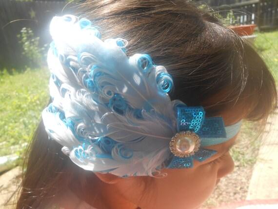 Feather  Baby Headband, Newborn Headband,  Infant Headband,Baby Headband, Headband Baby