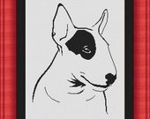 BULLTERRIER dog/chien -Counted cross stitch pattern /grille point de croix  ,Cross Stitch PDF, Instant download , free shipping