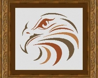 EAGLE / aigle -Counted cross stitch pattern /grille point de croix  ,Cross Stitch PDF, Instant download , free shipping