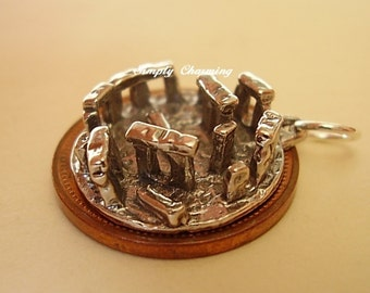 Large Sterling Silver Stonehenge Charm