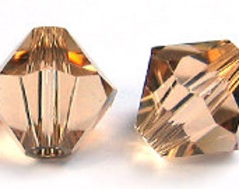 Swarovski 3mm Bicone - Light Colorado Topaz - Pack 20