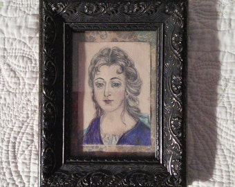 portrait miniature of a young lady.