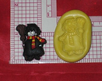 Harry Potter Flexible Push Mold Silicone Cake Bookscrapping Resin Clay Fimo A493