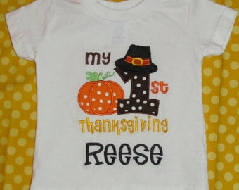My 1st Thanksgiving tee