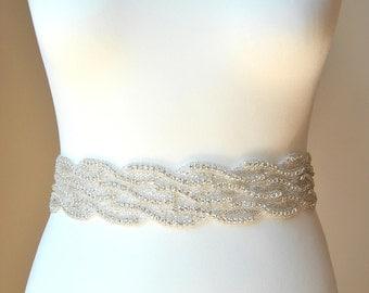 Luxury Crystal Bridal Sash,Wedding Dress Sash Belt,  Rhinestone Sash,  Rhinestone Bridal Bridesmaid Sash Belt, Wedding dress sash