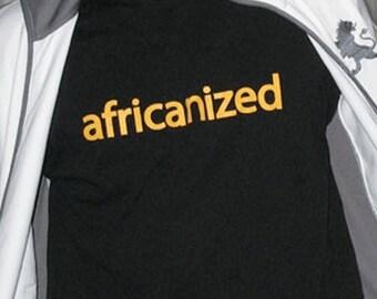 Africanized cotton short sleeved shirt for men
