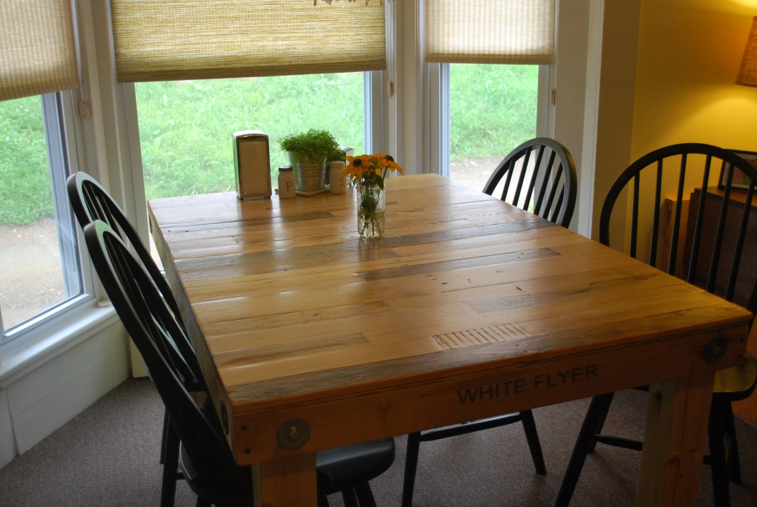 Salvage Wood Pallet Dining Room Table By BackBurnerDesigns On Etsy