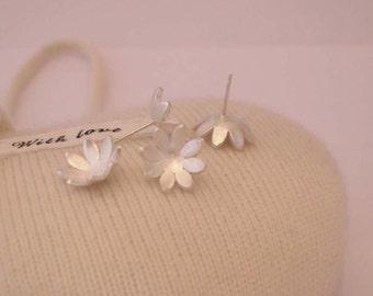 Domed Flower Earrings