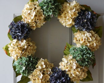 Wedding Decor, Outdoor Wedding Flowers, Summer Outdoor Wreaths, Hydrangea Decor