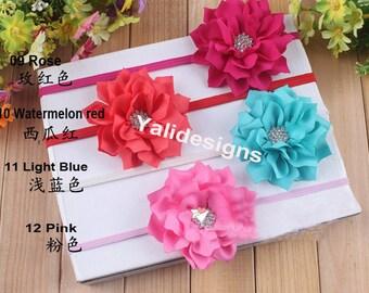 U Pick Wholesales Rhinestone Flower Headband Baby Headbands. Newborns Headbands. Girl's Headband YTH06