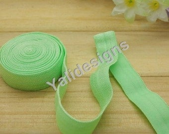 10 Yards 3/8''  Green Elastic Headband Baby Hairbow Soft Foldover Elastic Binding Webbing Tape Craft Sewing  - YTA13