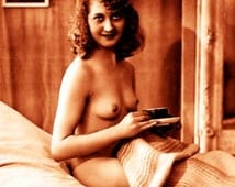 """Vintage Risque Nude Exotic - Bedroom Chamber #001 Canvas Art Poster 16"""" x 24"""""""