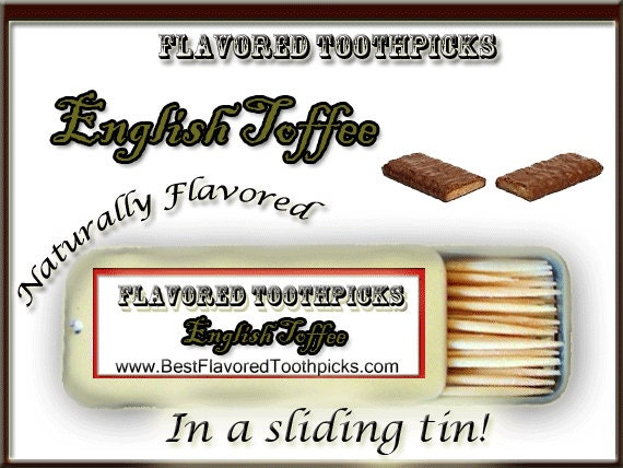 70 Year Wedding Anniversary Gifts: Items Similar To English Toffee Flavored Toothpicks