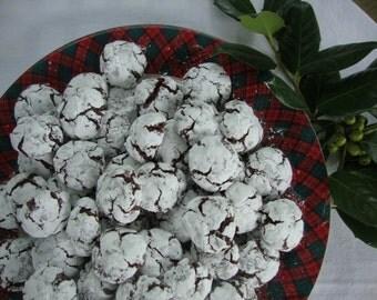 Chocolate Crinkle Cookies  2 Dozen (24)