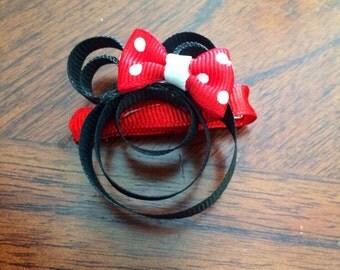 Minnie Mouse Ribbon Sculpture 3d Bow.