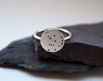 Constellation Sterling Silver Ring - statement ring, stars, science, astrology, astronomy, moon, space