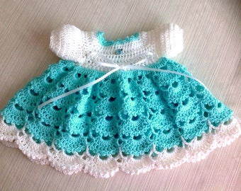 Newborn Crochet Baby Dress JANICE PATTERN