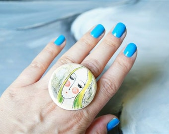 Ceramic Ring, Ceramic Jewelry, Ring by HerMoments