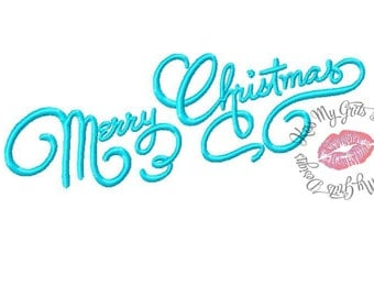 Merry Christmas Script #3 Machine Embroidery Design