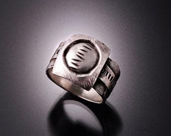 "Mens rings | Mens silver ring | Mens sterling band | Mens band sterling silver ring | Fashion jewelry bands | ""Full Moon"" Ring"