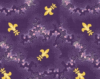 Newcastle Fabrics New Orleans Coordinates in Purple 308