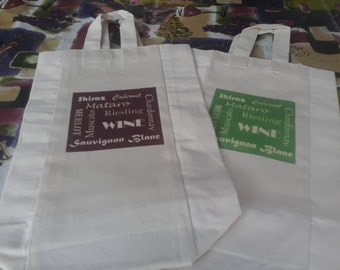 2 x Wine Tote Bag